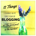 12 things I've learned in my first year of blogging