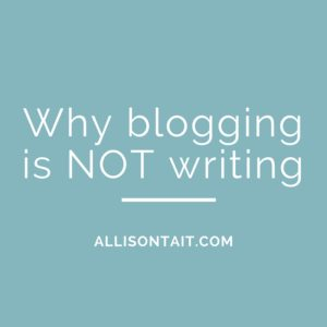 (Blogging for authors) blogging not writing