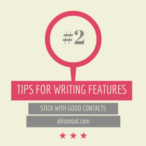 Tips for writing features #2