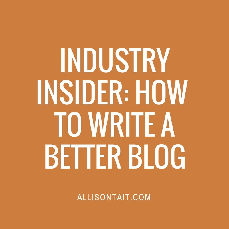 Write a better blog