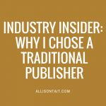 Industry Insider: Kirsten Krauth on voice, reviews and why she chose a traditional publisher