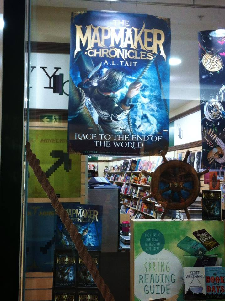bookshop display The Mapmaker Chronicles