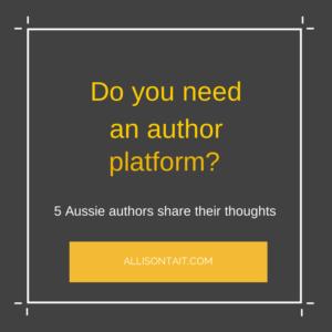 Do you need an author platform- 5 aussie