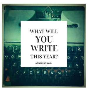 What will you write this year?