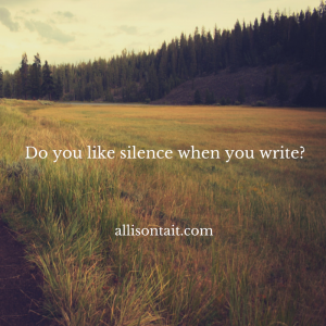 silence and writing how to write