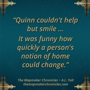 The Mapmaker Chronicles image quotes A. L. Tait
