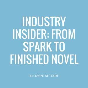 INDUSTRY INSIDER- from idea to novel