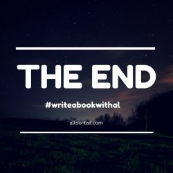 THE END #writeabookwithal