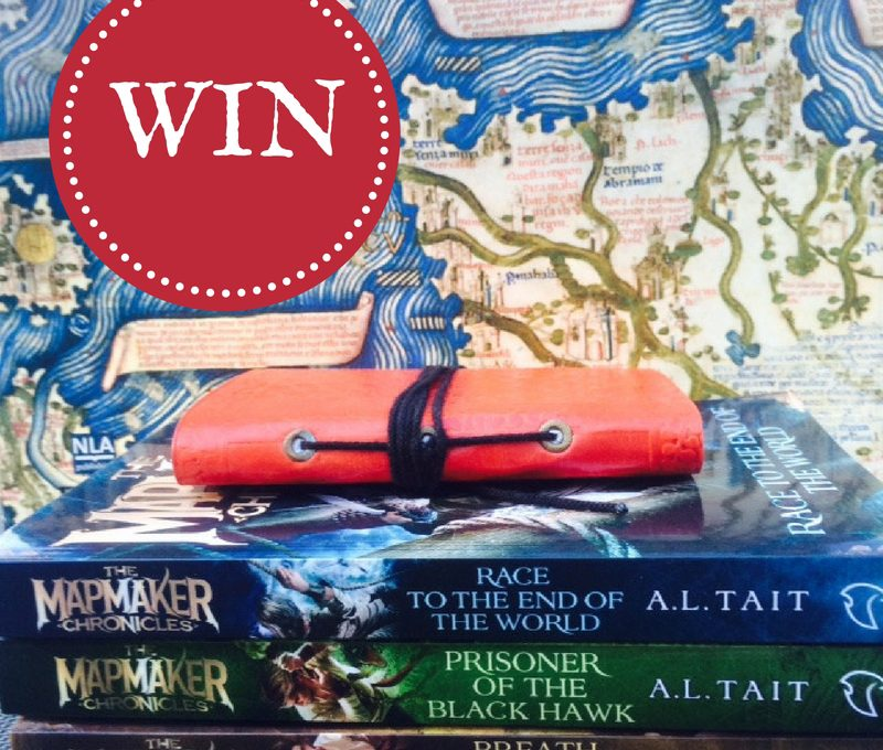 WIN: The Mapmaker Chronicles series (signed) + leather notebook