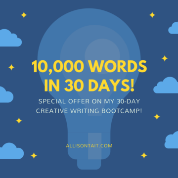 Special offer on 30-day creative writing bootcamp