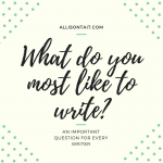 An important question for every writer