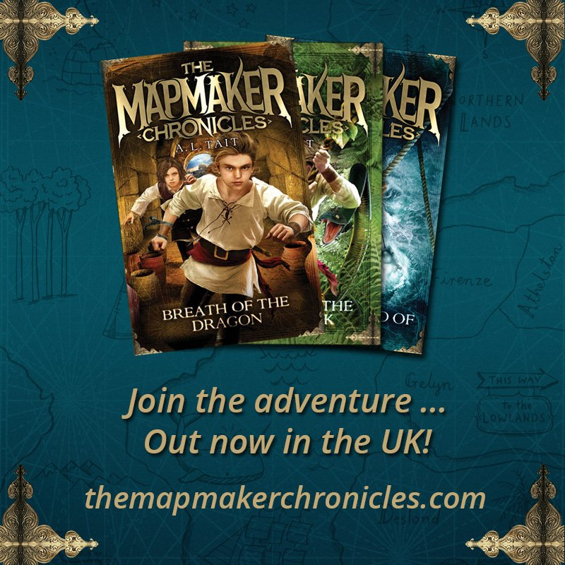 The Mapmaker Chronicles, out now in the UK!