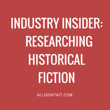 Industry Insider: How to research historical fiction
