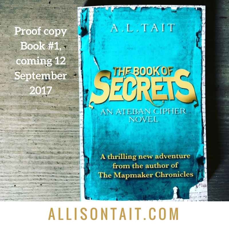 Proof copy of The Book of Secrets (Ateban Cipher #1) by A.L. Tait. Read the blurb. Coming 12 September 2017!