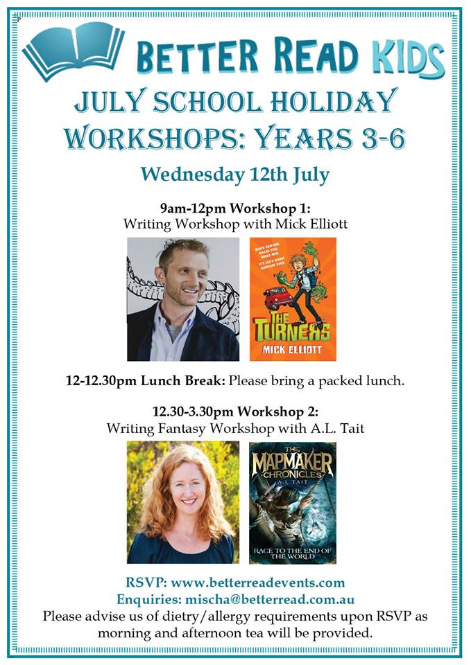 school holiday writing workshops for kids
