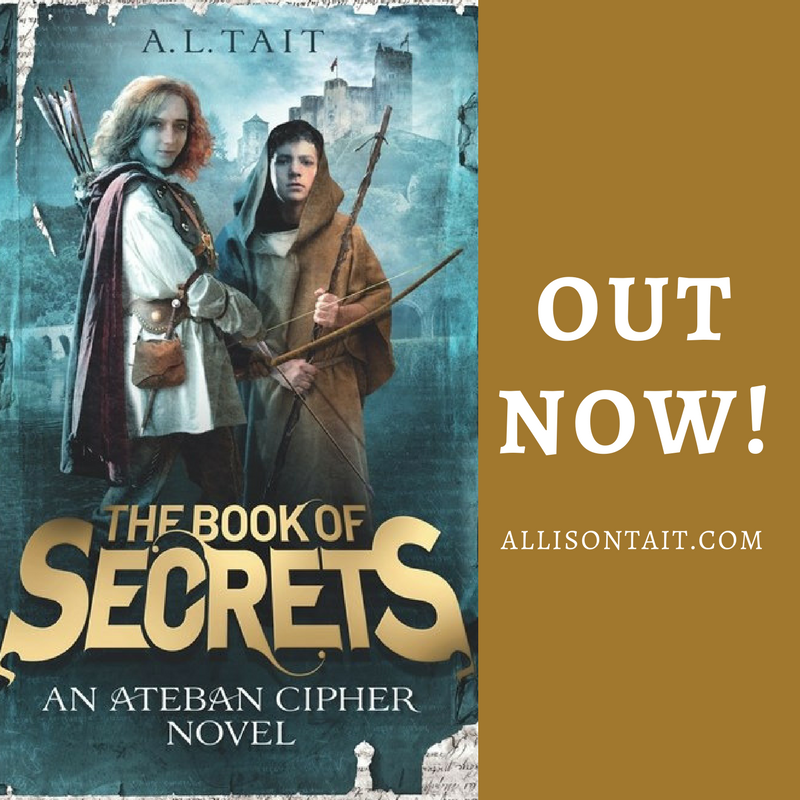 The Book Of Secrets (Ateban Cipher #1) is out now for middle-grade readers | A.L. Tait