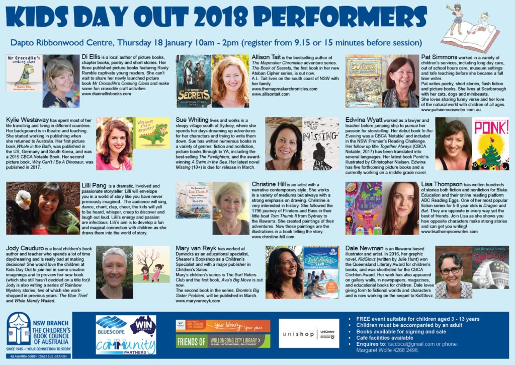 Full program for Kids' Day Out Illawarra 2018 January 18