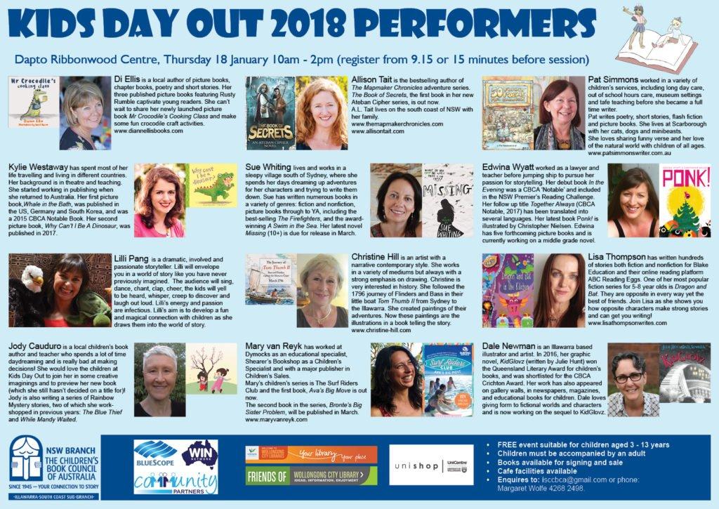 Full program for Kids' Day Out Illawarra 2018 January 18
