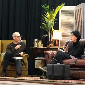 catherine mckinnon and mark whittaker at shoalhaven writers festival | allisontait.com