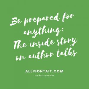 The inside story on author talks