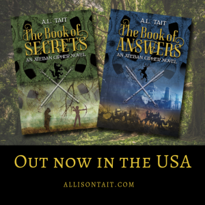 Out now in the USA: The Ateban Cipher series by A.L. Tait