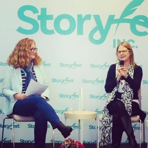 A.L. Tait and Jaclyn Moriarty at Storyfest | allisontait.com
