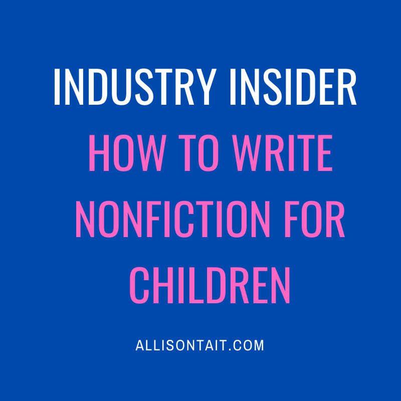 Industry Insider: Writing nonfiction for kids