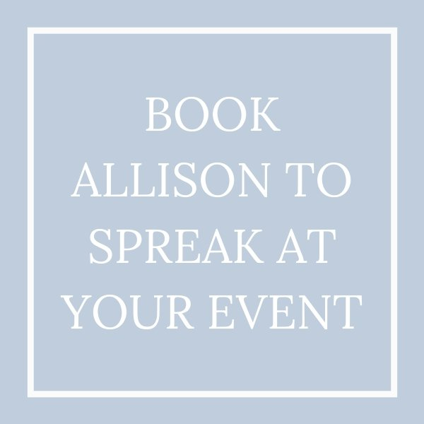 book allison to speak tile