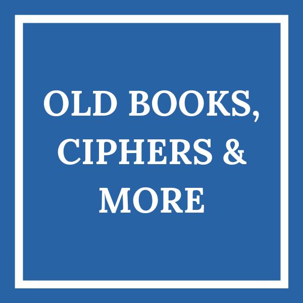 Old books tile blue