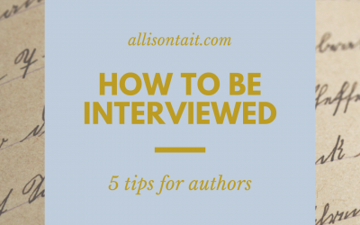 How to be interviewed: 5 tips for authors