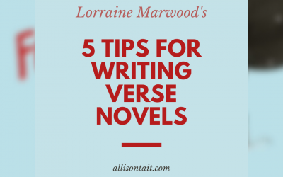 Five tips for writing verse novels for children